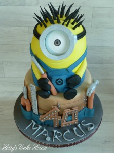 Carpentry minion cake