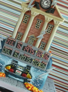 Back to the future cake close up