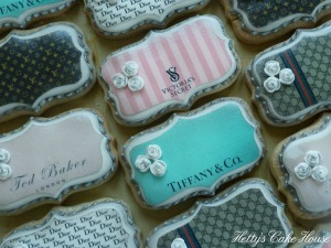 Designer label cookies