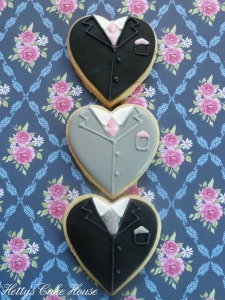 Groom's heart cookies