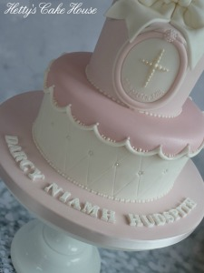 Darcy's baptism cake close up