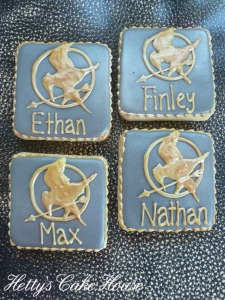 Mocking Jay cookies x 4