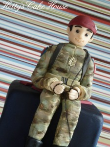 Paratroopers cake close up