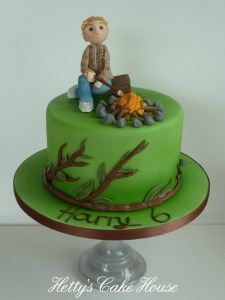 -Harry's bonfire cake