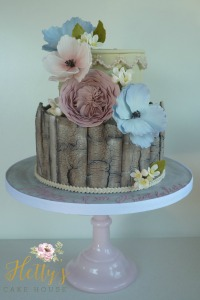 painted-bark-effect-floral-cake