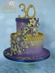 purple-and-gold-star-30th-cake