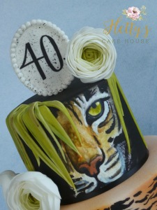 Tiger cake close up
