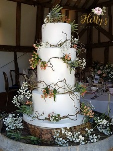 Wild flower wedding cake 2