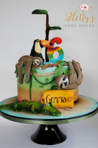 jungle sloth cake logo
