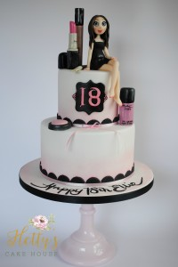Mac makeup cake with logo