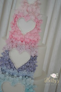 Pastel wedding close up