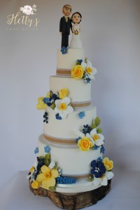 May Day wedding cake
