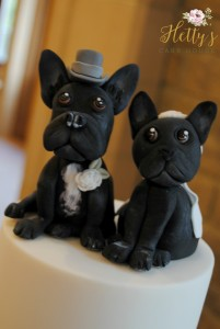 French bull dog cake toppers