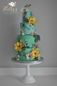 Wild Meadow wedding cake logo