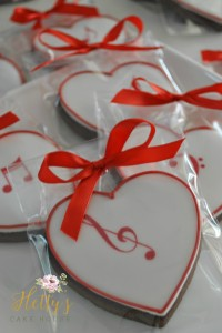 Red music cookies